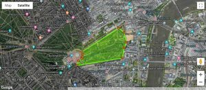 St James Park Zone Marker map
