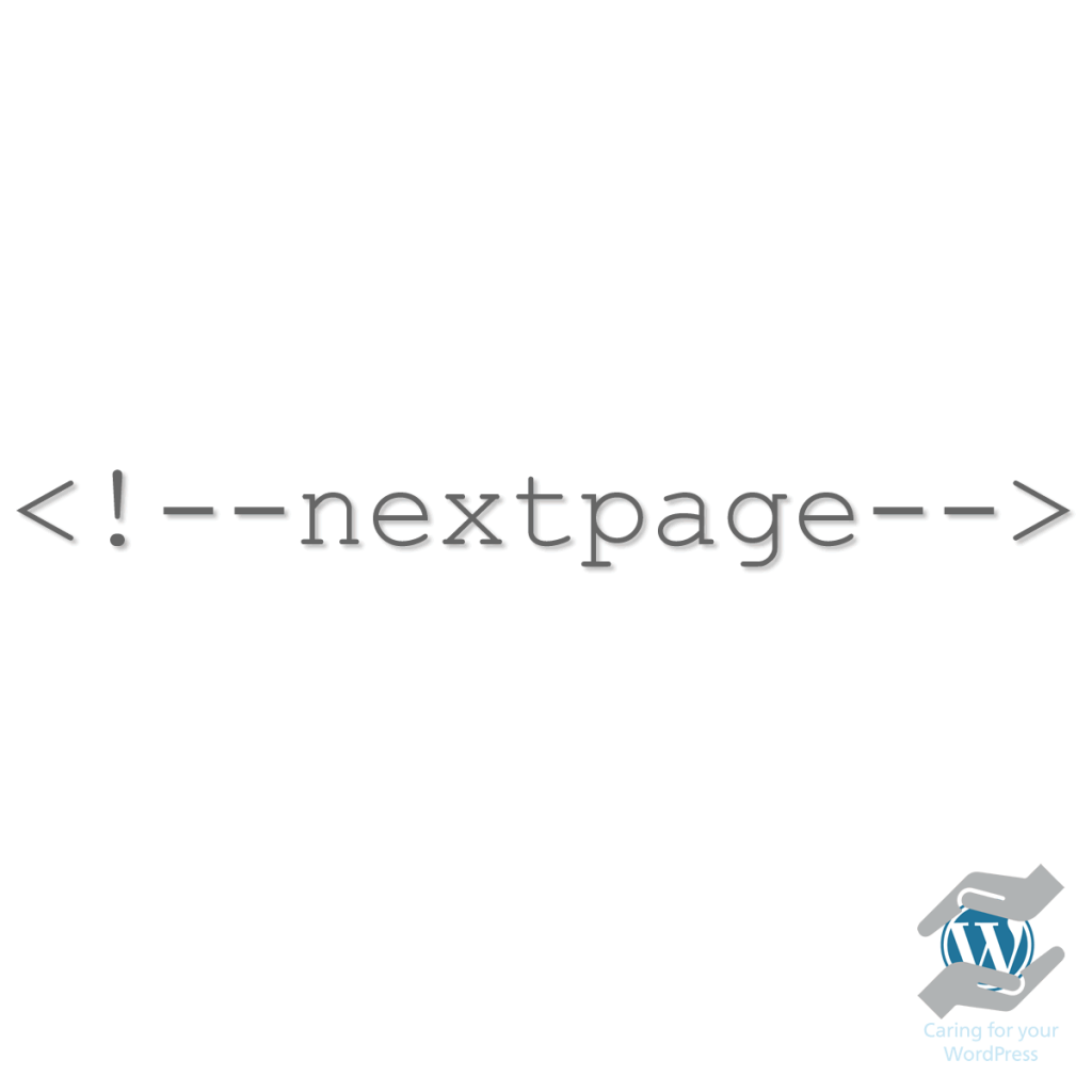 nextpage WordPress tag