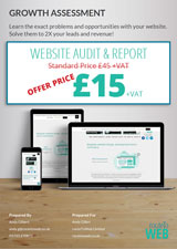 Front cover of the website audit and report