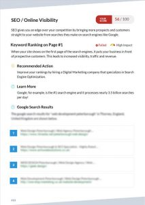 seo and online visibility page